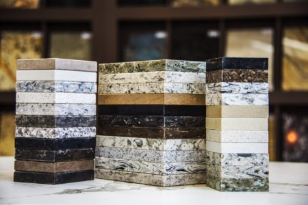 Granite Marble and Quartz Countertop Samples
