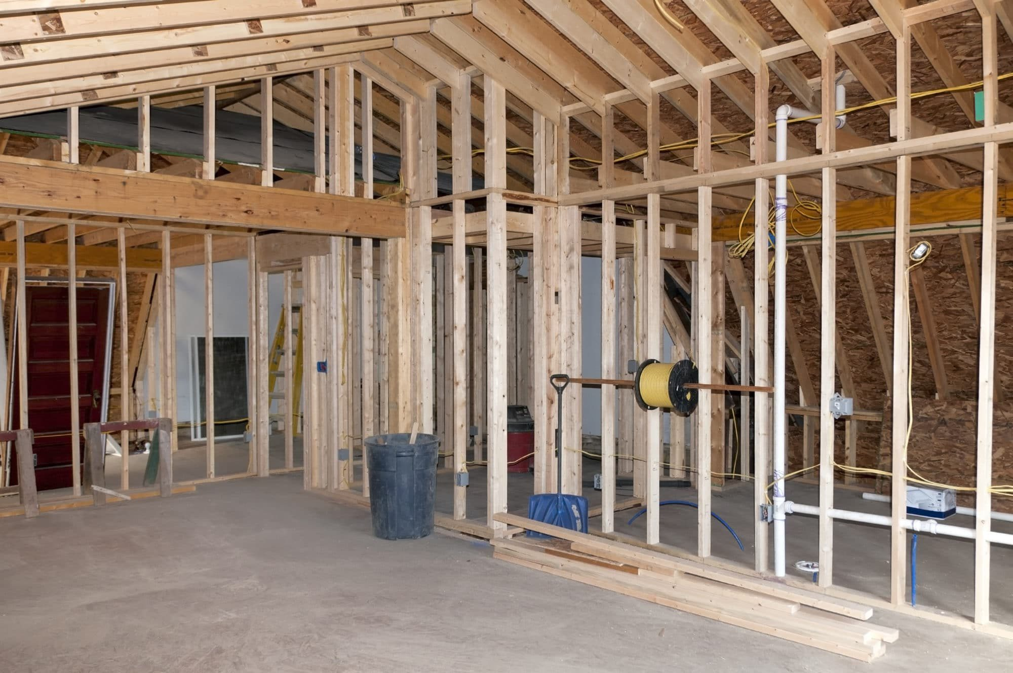 Just completed framing room addition to an existing home
