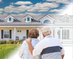 Senior Couple Imagine Their Entire Home Remodel From Exterior Drawing