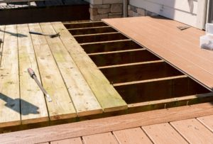 We repair and replace old wooden decking with modern synthetic composite materials.