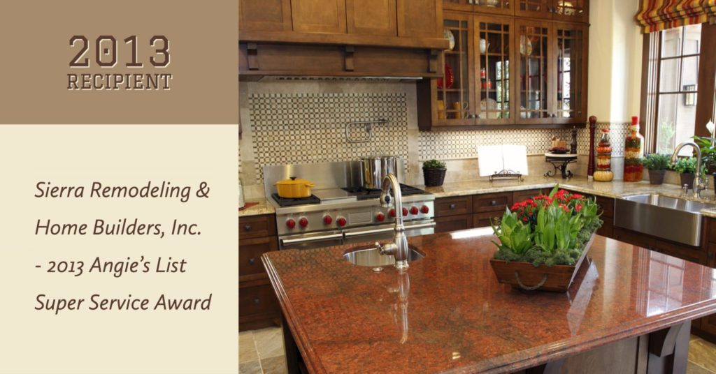 Sierra Remodeling 2013 Angie's List Super Service Award