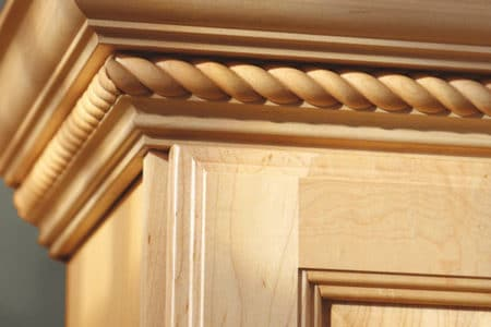 Sierra Remodeling adds Aristokraft cabinetry embellishments during their kitchen remodels