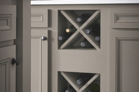 Let Sierra Remodeling install an Aristokraft wine storage cabinet into your new kitchen!