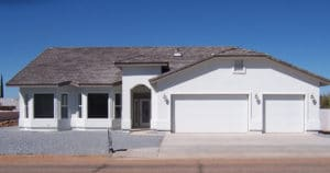Sierra Remodeling Southwest styled custom home build - front view