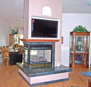 Sierra Remodeling fireplace entertainment center warrick