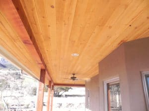 Sierra Remodeling Southwest outdoor patio overhead paneling