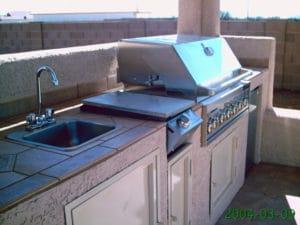 Sierra Remodeling Southwest styled outdoor kitchen in gazebo
