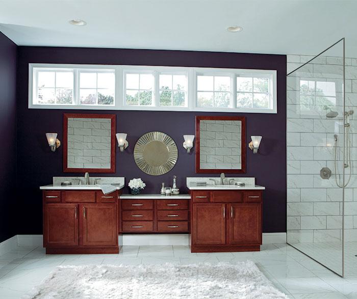 Aristokraft birch cabinets in casual bathroom 2 sierra for J kitchen sierra vista menu