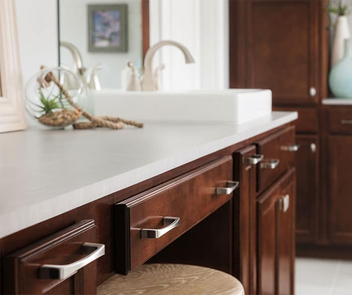 Aristokraft dark maple bathroom cabinets 3 sierra remodeling for J kitchen sierra vista menu