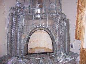 Kiva fireplace skeleton closeup