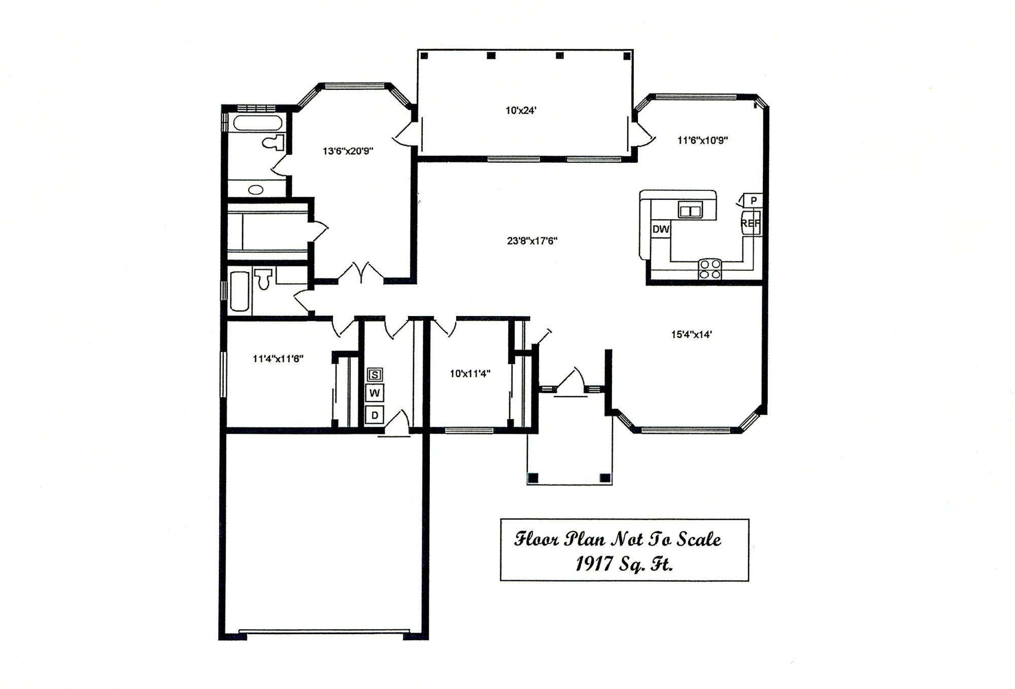 Sierra Remodeling Custom Home Model 1917 floor plan