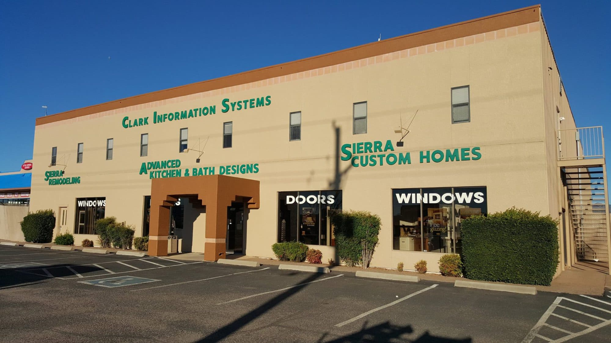 Sierra Remodeling & Home Builders showroom at 1840 S. Highway 92 in Sierra Vista, Arizona