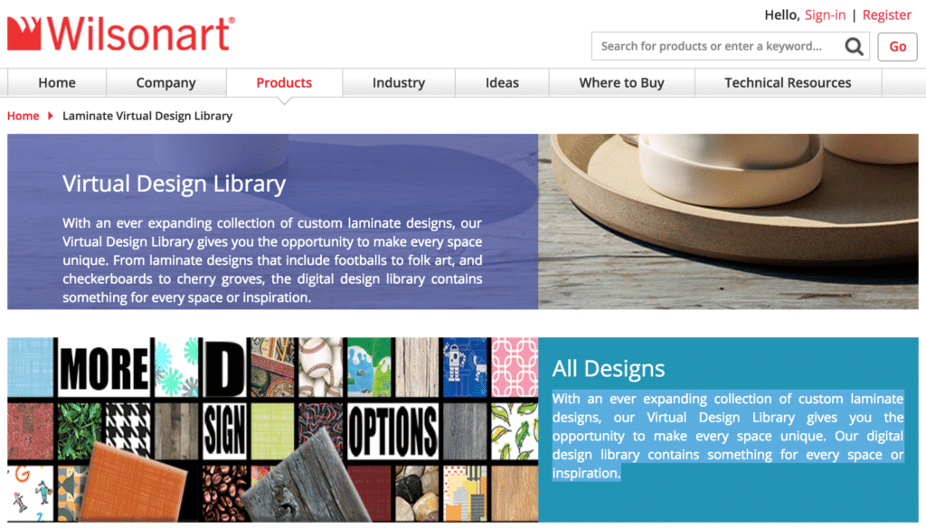 Wilsonart Virtual Design Library
