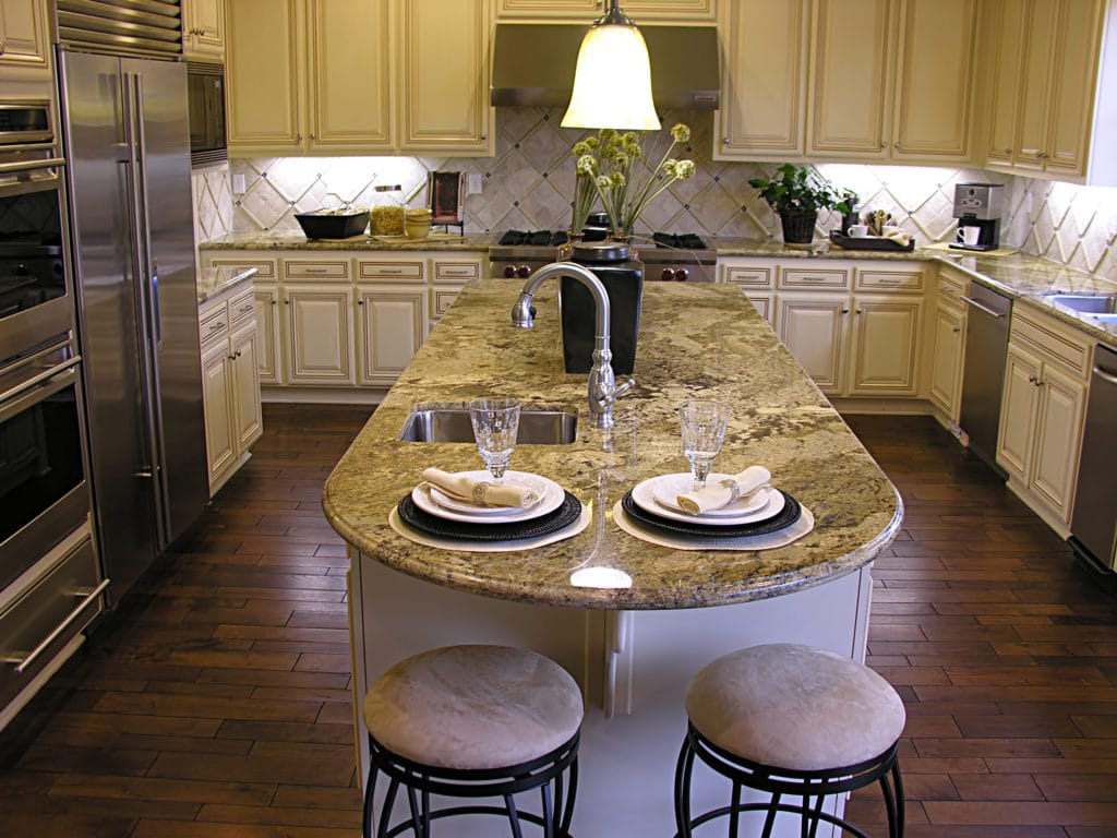 Sierra Remodeling designs beautiful kitchens with granite countertops!