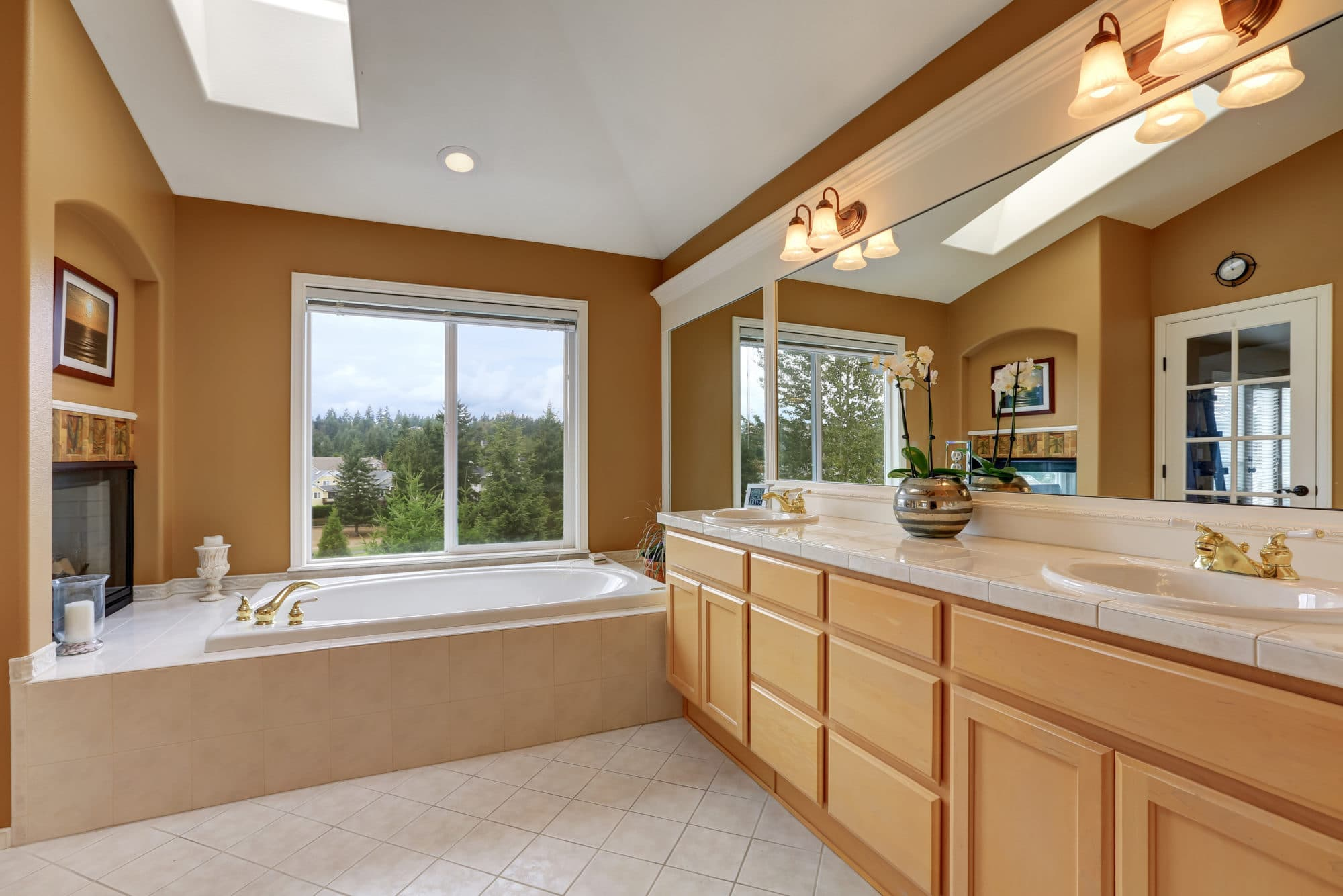 Sierra Remodeling with brighten your day with skylights in your bathroom!