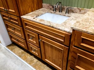 Sierra Remodeling designs luxury bathrooms with granite countertops