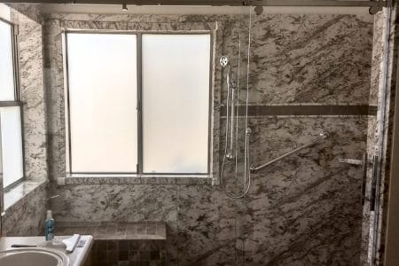 Sierra Remodeling accessible shower project