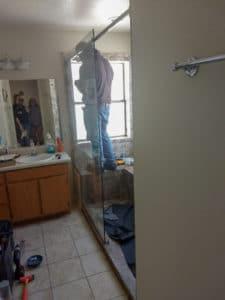DURING - Carter Master Bath Shower Makeover 04