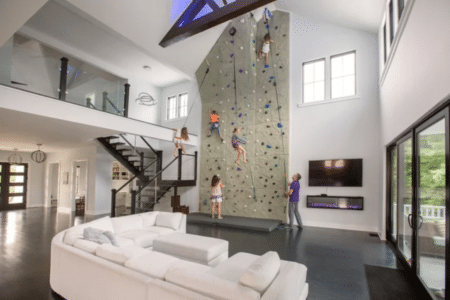 Charleston climbing-wall house